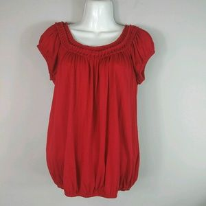 Sophie Max Top Blouse Women's Size Small Red